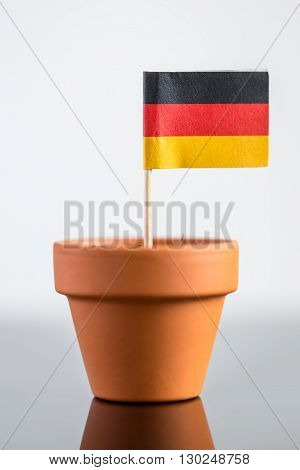Plant Pot With German Flag