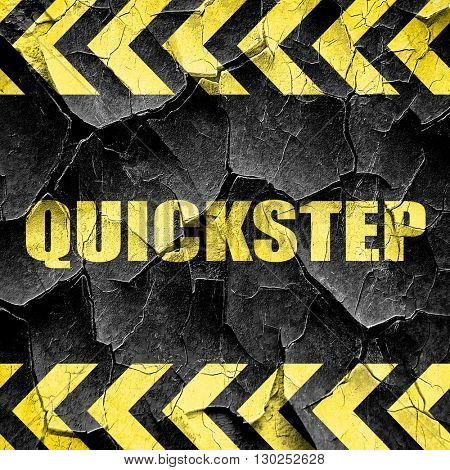 quick step, black and yellow rough hazard stripes