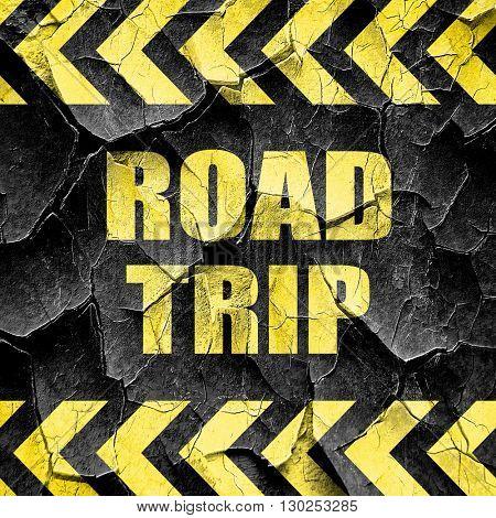 roadtrip, black and yellow rough hazard stripes