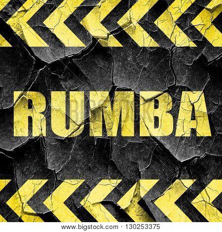 rumba dance, black and yellow rough hazard stripes