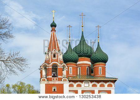 Orthodox Christian church of the Archangel Michael. Yaroslavl Russia.