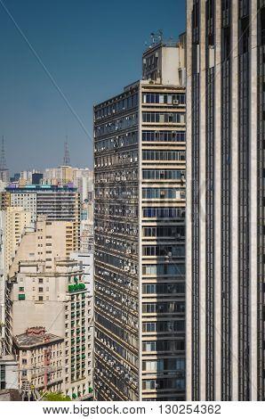 Sao Paulo Brazil August 08 2011: building on downtown Sao Paulo