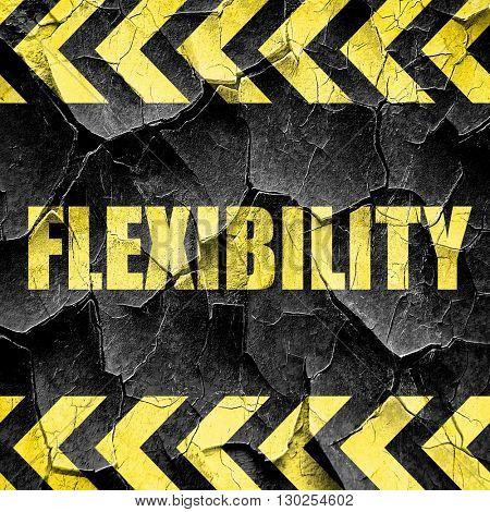 flexibility, black and yellow rough hazard stripes
