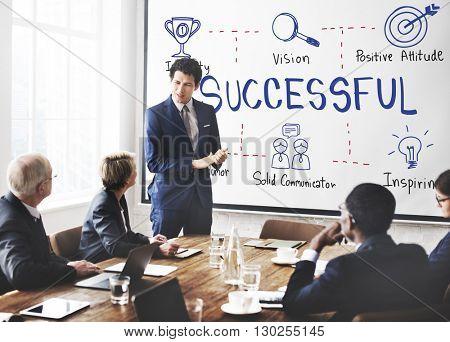 Successful Accomplishment Achievement Victory Concept