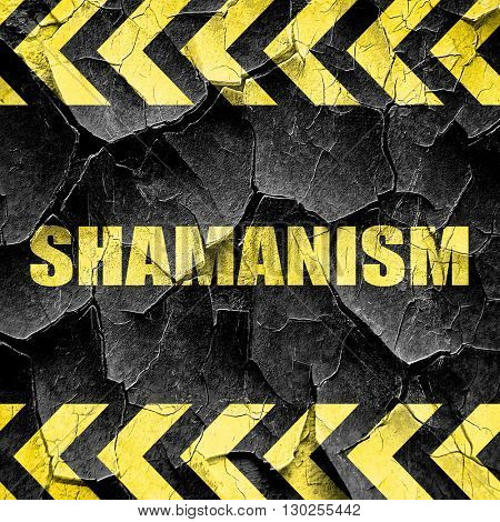 shamanism, black and yellow rough hazard stripes