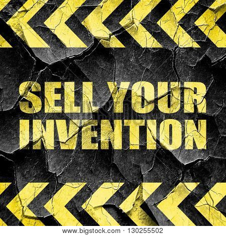sell your invention, black and yellow rough hazard stripes