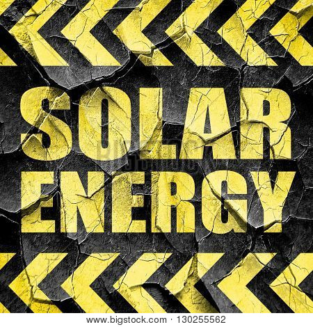 solar energy, black and yellow rough hazard stripes