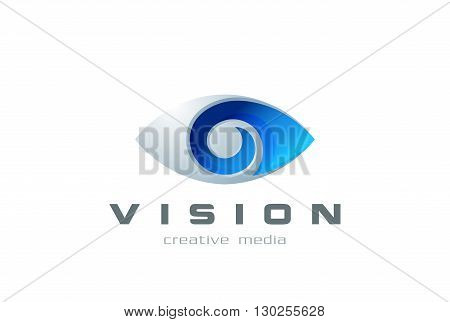 Eye Logo symbol abstract design vector template search, spy, photography. Vision creative Logotype concept ophthalmology lens icon
