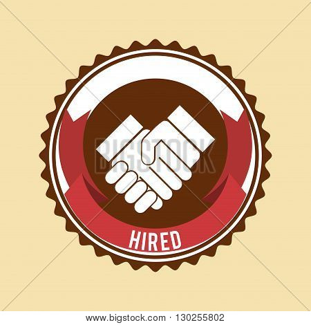 hired symbol design, vector illustration eps10 graphic
