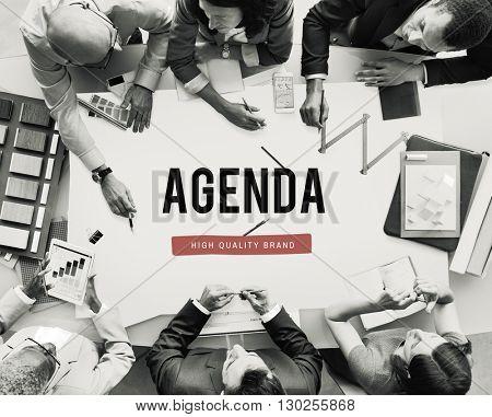 Agenda Schedule Plan Planner Organizer Concept