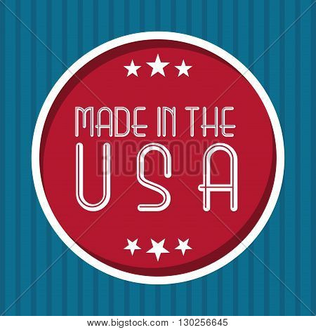 made in the usa design, vector illustration eps10 graphic