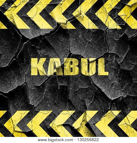kabul, black and yellow rough hazard stripes