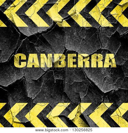 canberra, black and yellow rough hazard stripes