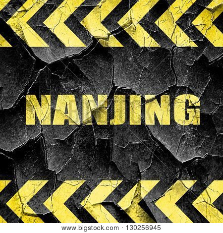 nanjing, black and yellow rough hazard stripes