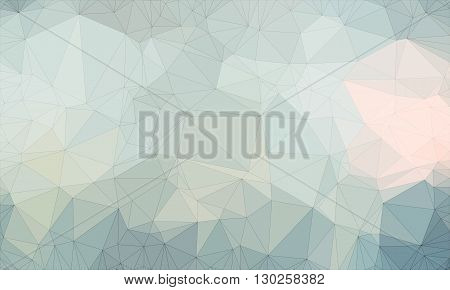Low poly background design in geometric pattern. polygon wallpaper in origami style. polygonal texture illustration in color light blue and gray and white