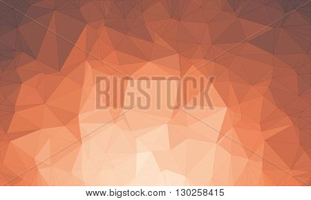 Low poly background design in geometric pattern. polygon wallpaper in origami style. polygonal texture illustration in color light red and dark red