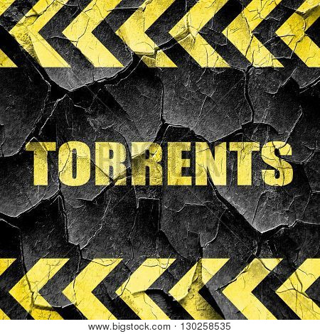 torrents, black and yellow rough hazard stripes