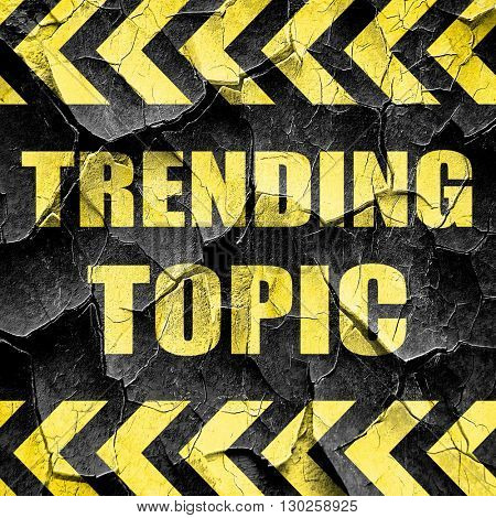 trending topic, black and yellow rough hazard stripes
