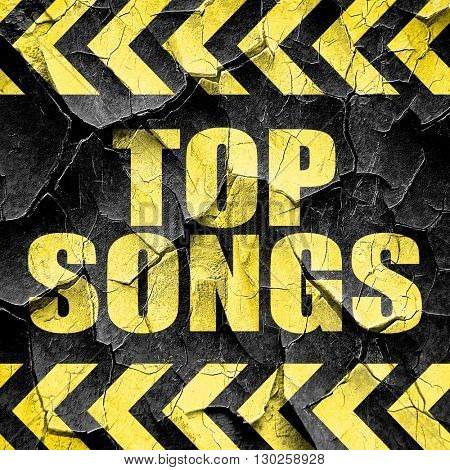 top songs, black and yellow rough hazard stripes