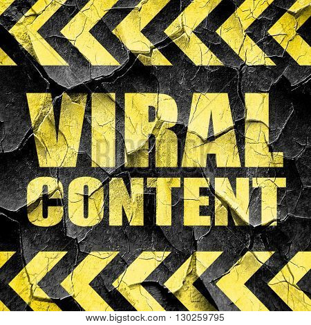 viral content, black and yellow rough hazard stripes