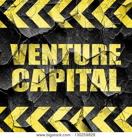venture capital, black and yellow rough hazard stripes