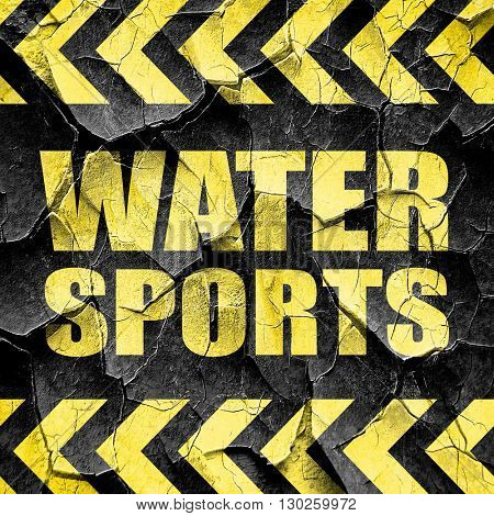 water sports, black and yellow rough hazard stripes