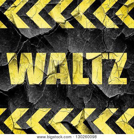 waltz dance, black and yellow rough hazard stripes