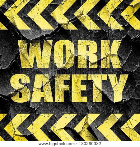 work safety, black and yellow rough hazard stripes