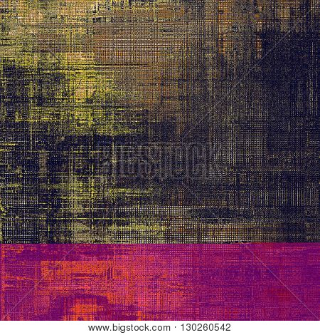 Vintage style designed background, scratched grungy texture with different color patterns: yellow (beige); brown; gray; purple (violet); black