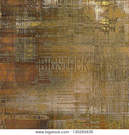 Retro vintage style background or faded texture with different color patterns: yellow (beige); brown; gray