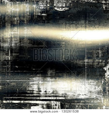 Retro texture used as abstract grunge background. Shabby backdrop with different color patterns: yellow (beige); brown; blue; gray; black; white