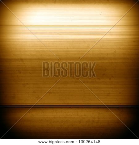 Square gold metal plate. Gold metal. Gold background. Polished silver metal texture