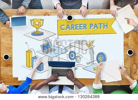 Career Path Employment Human Resources Work Concept