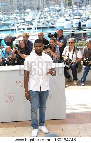 Usher  at the photocall for Hands Of Stone at the 69th Festival de Cannes. May 16, 2016  Cannes, France