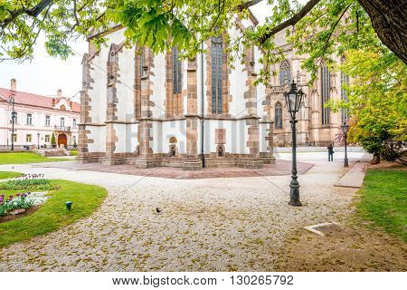 Central square with saint Elizabeth cathedral in Kosice city, Slovakia
