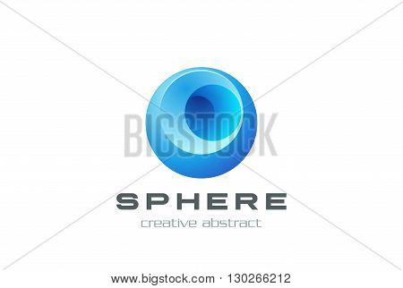 Sphere abstract Logo design vector template. Business technology Circle Logotype concept icon