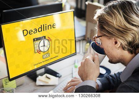 Deadline Target Notice Important Schedule Concept