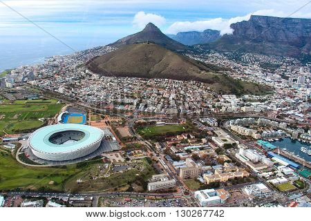 Cape Town, South Africa. View From The Height