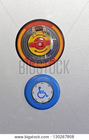 Handicap Activation Push Button With Emergency Stop