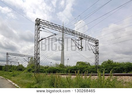 Overhead Train Line Electrical Power Transmission System