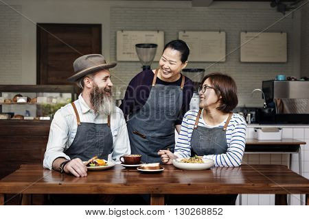 Apron Bistro Casual Eating Enjoyment Leisure Concept