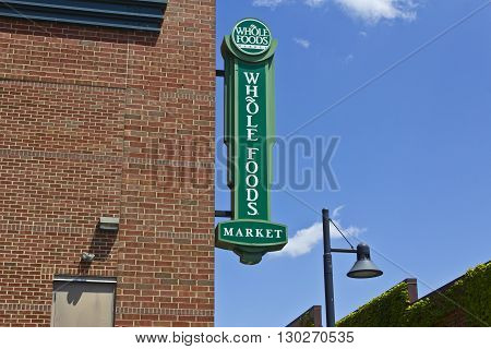Indianapolis - Circa May 2016: Whole Foods Market America's Healthiest Grocery Store III
