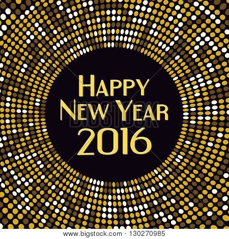 Golden radial pattern New Year background,