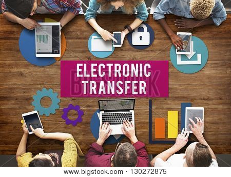 Electronic Transfer Banking Data Internet Concept
