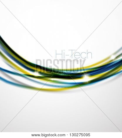 Glossy wave, coporate business brochure identity vector design
