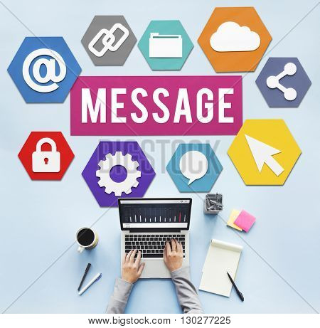 Message Communication Business People Technology Concept