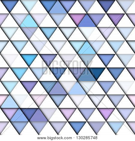 Seamless abstract background of the triangles with simulated relief