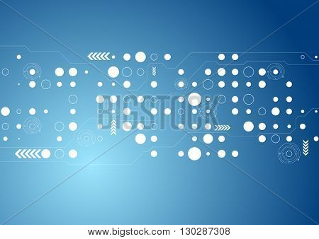 Abstract blue tech geometric background. Vector graphic corporate tech design. Geometrical style template