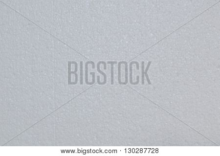 close up of white foam board texture and background