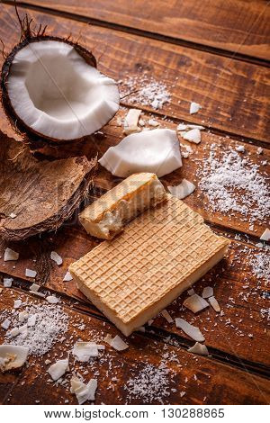 White Chocolate In Wafers